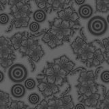 SEAMLESS VECTOR REPEATED PATTERN DESIGN BACKGROUND 3D EFFECT. Seamless texture. Figure 3D - the structure of the atom.Color shades of grey Stock Photography