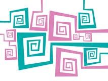 Seamless vector retro pattern Stock Photos