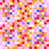 Seamless Vector Retro Pink Squares Background Royalty Free Stock Photo
