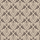 Seamless vector retro wallpaper. Vintage baroque Royalty Free Stock Photos