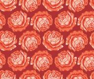 Seamless vector rose flower Stock Photos