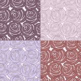 Seamless vector rose pattern Stock Photography