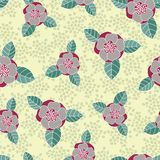 Seamless vector rose pattern Royalty Free Stock Images