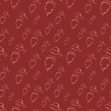 Seamless Vector Santa Claus pattern or background. Royalty Free Stock Photo