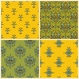 Seamless vector set of asian patterns Stock Images