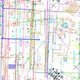 Seamless vector simulating  blueprint Stock Photography
