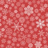 Seamless vector snowflake. On light red background pattern tile for gift wrapping paper and textile, winter christmas and new year holiday decoration Royalty Free Stock Image