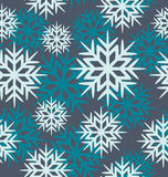 Seamless vector snowflakes Royalty Free Stock Photo