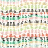 Seamless vector spots and strokes retro 60s colours pattern. For fabric, textile, wrapping, ceramic Vector Illustration