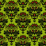 Seamless vector spring flower palnt pattern Royalty Free Stock Image