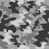 Seamless vector square camouflage pattern grey Royalty Free Stock Images