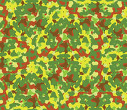 Seamless vector square camouflage series in the green scheme. Royalty Free Stock Photos