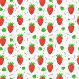 Seamless vector strawberries pattern Royalty Free Stock Image