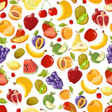 Seamless vector summer juicy fruit and berries exotic cocktail Royalty Free Stock Photography
