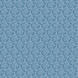 Seamless vector swirl white and blue wave Japanese pattern Royalty Free Stock Images