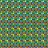 Seamless Vector Talavera Pattern and Background Royalty Free Stock Photo