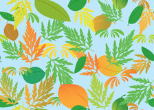 Seamless vector texture with autumn theme. Vector seamless pattern with autumn theme Stock Photo