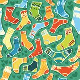 Seamless vector texture - baby socks with a Royalty Free Stock Images