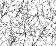 Seamless vector texture of the branches royalty free stock photo