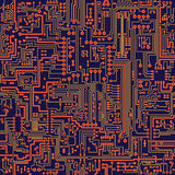 Seamless vector texture - circuit board stock illustration