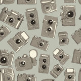 Seamless vector texture of different cameras. Seamless vector pattern of different cameras Stock Photo