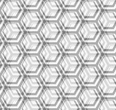 Seamless vector texture - gray hexagons Stock Photography