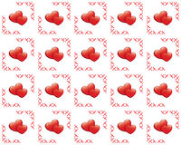Seamless vector texture with hearts Royalty Free Stock Photo