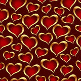 Seamless vector texture with hearts Stock Photo