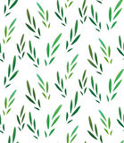 Seamless vector texture with little green leaves Royalty Free Stock Image