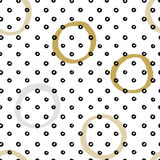 Seamless vector texture pattern with hand drawn circles and dots. Royalty Free Stock Photo