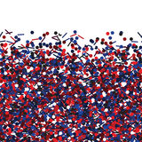 Seamless vector texture with red and blue glitters. Royalty Free Stock Photo