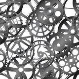 Seamless vector texture - watch gears royalty free illustration