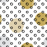 Seamless vector textured hand drawn polka dot pattern. Stock Images