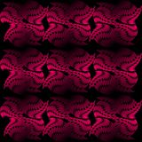 Seamless vector tile composed of uneven abstract shapes, red patterns on black background, 3d effect. Vector EPS 10 Stock Photo