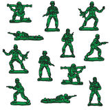 Seamless vector toy soldiers. Seamless vector green toy soldiers Stock Photos