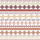 Seamless vector tribal pattern background stock illustration