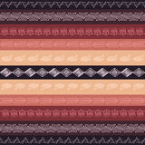 Seamless vector tribal texture. Royalty Free Stock Photos