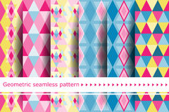 Seamless vector tribal texture set. Royalty Free Stock Images