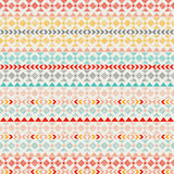 Seamless vector tribal texture. Tribal seamless texture. Vintage ethnic seamless backdrop. Boho stripes. Striped vintage boho fash Stock Photography