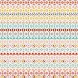 Seamless vector tribal texture. Tribal seamless texture. Vintage ethnic seamless backdrop. Boho stripes. Striped vintage boho fash Stock Photography