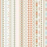 Seamless vector tribal texture. Tribal seamless texture. Vintage ethnic seamless backdrop. Boho stripes. Striped vintage boho fash Stock Images