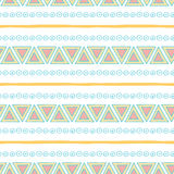 Seamless vector tribal texture. Tribal seamless Royalty Free Stock Images