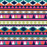 Seamless vector tribal texture. Tribal vector pattern. Colorful Stock Image