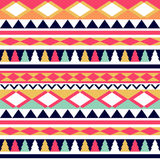 Seamless vector tribal texture. Tribal vector pattern. Colorful Stock Photo