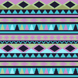 Seamless vector tribal texture. Tribal vector pattern. Colorful Royalty Free Stock Images