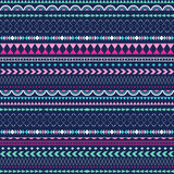 Seamless vector tribal texture. Tribal vector pattern. Royalty Free Stock Images