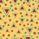 Seamless vector tribal texture. Tribal  yellow Stock Photo