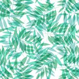 Seamless vector tropical pattern with palm grove royalty free illustration