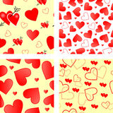 Seamless vector valentines Royalty Free Stock Image