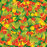 Seamless Vector Vegetables On Green Pattern Stock Photos